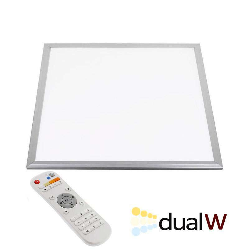 Panel LED 36W, Blanco DUAL, RF, 60x60cm, Blanco dual, Regulable